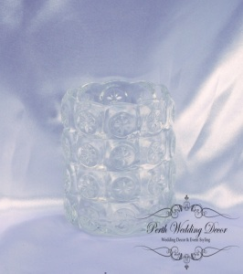 tall crystal votive