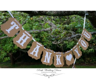 Thank You banner bunting, 1.8m. $5.50