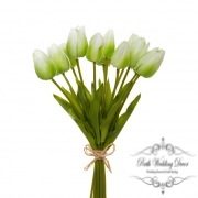 Tulip Mini Bouquet (12 Flowers 35cmST) Real Touch Green