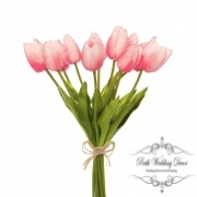 Tulip Mini Bouquet (12 Flowers 35cmST) Real Touch Light Pink