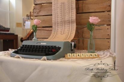 Type writer seating chart. $38.00