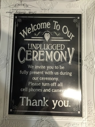 Unplugged ceremony sign. $2.50 each