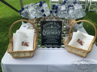 Unplugged ceremony sign. $2.50