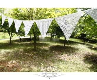 White lave banner bunting, 3m. $5.50