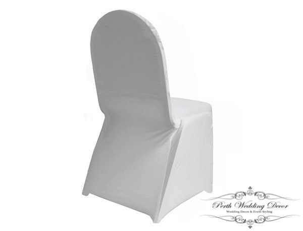 White Lycra Spandex Chair Cover