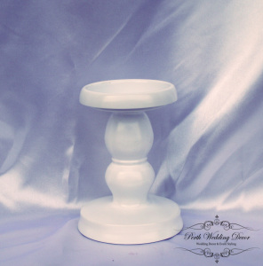 White metal pillar candle stand 15cm. $2.00 each