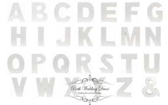 White wooden letters. $1.00 each