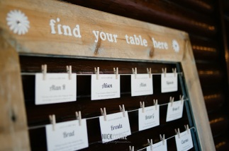 Wooden frame with pegs seating chart. $25.00