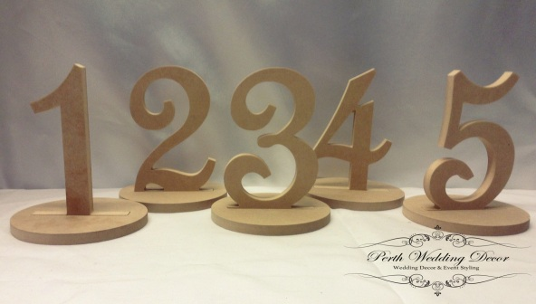 Wooden numbers. $1.00 each