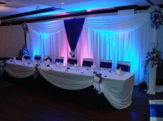 royal blue and black wedding theme