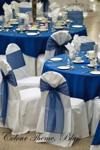 Tables setting for an event