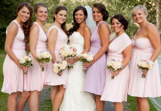 navy blue and pink wedding theme