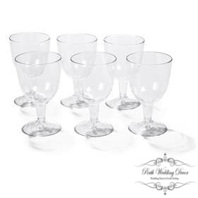 Plastic wine glasses. $0.35 each