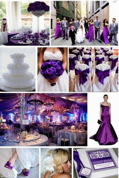 blue and purple wedding theme ideas