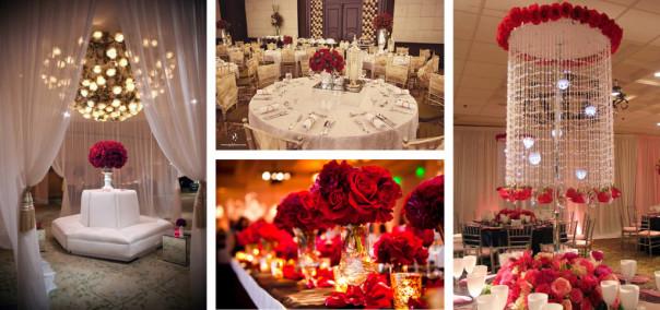Rose perth wedding decor red rose themed wedding decorations junglespirit Choice Image
