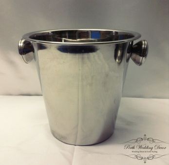 Silver ice bucket. $2.00 each