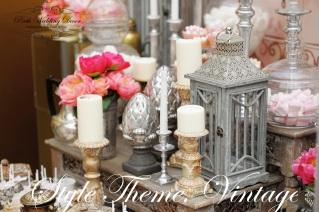 Stylish sweet table on wedding party